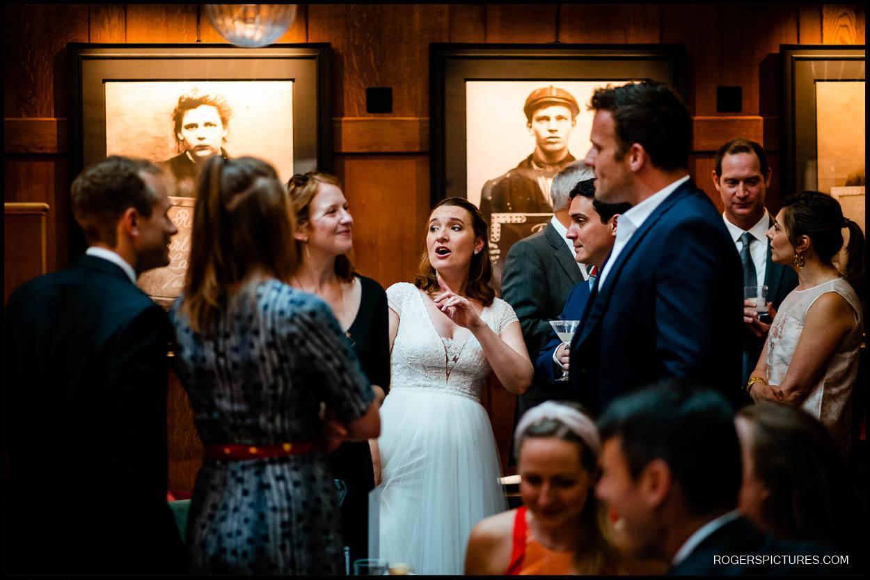 Wedding guests at Dixon Hotel