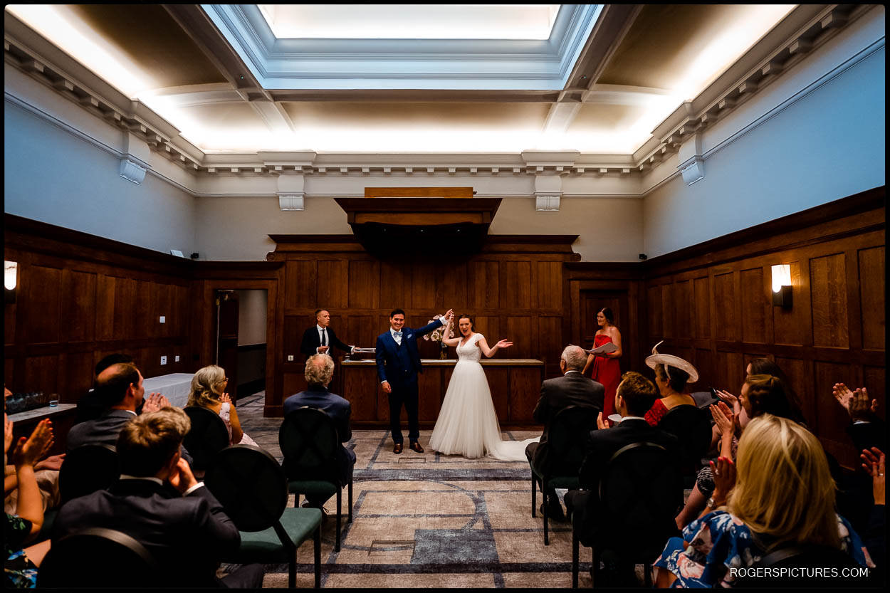 Converted magistrates court for a London wedding